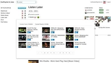 OnePlaylist vos musiques de differentes plateformes en une seule et meme playlist